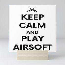 Keep Calm welts Airsoft Airsoft BBs Gift Mini Art Print