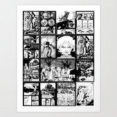 WHITE - A nne Frankenstein Book I - Resurrection Art Print