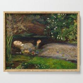 Ophelia, John Everett Millais Serving Tray