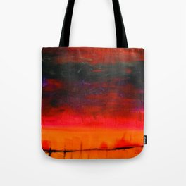 From a Nightmare II, Acrylics on Canvas Tote Bag