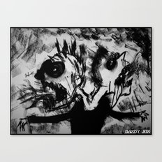 Two Screaming Heads Canvas Print