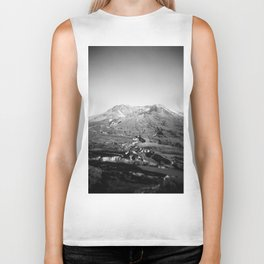 Mount St. Helens in Black and White - Holga Photograph Biker Tank