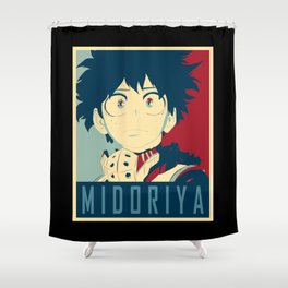 Midoriya Hope Poster Shower Curtain