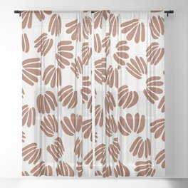 Abstract Floral VI Sheer Curtain