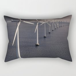 Windmill farm at sea Rectangular Pillow