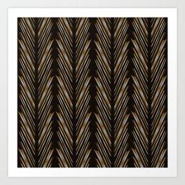 Wheat grass black Art Print