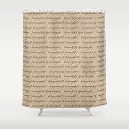 Elvish // Tan Shower Curtain