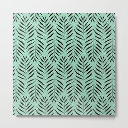 Palm trees in acquamarine Metal Print