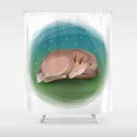 bambi Shower Curtains featuring Bambi by Ana Alves