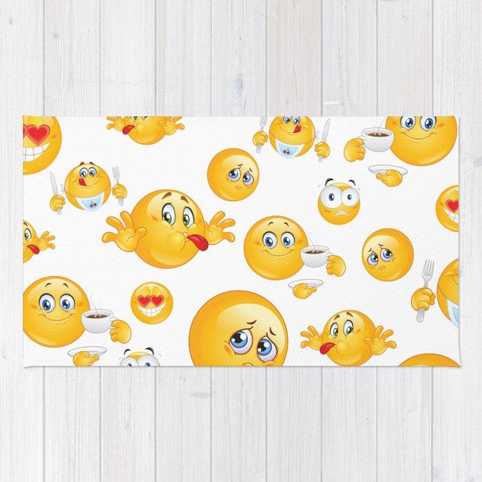 Emoji Pattern Rug