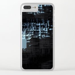 Spaceship structure urban intricate pattern abstract background Clear iPhone Case