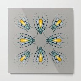 Yellow Agate Beetle Metal Print