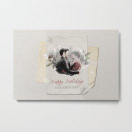 OUAT HAPPY HOLIDAYS // Captain Swan Metal Print