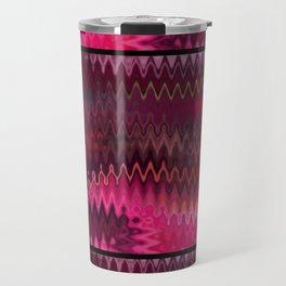 Rosy dreams. Wavy zigzag print Travel Mug