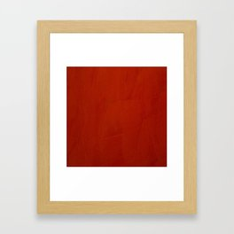 Italian Style Red Stucco Framed Art Print