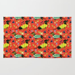 Sweater Weather Dachshund Pattern Rug