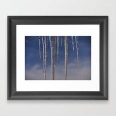 Ice in the air Framed Art Print