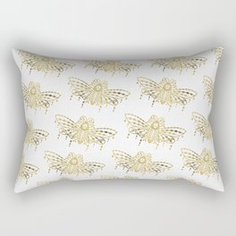 Death's Head Hawkmoth – Gold Palette Rectangular Pillow