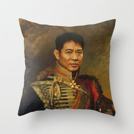 Jet Li - replaceface Throw Pillow
