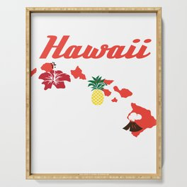 Fresh Hawaiian Style Tshirt Design Hawaii Serving Tray
