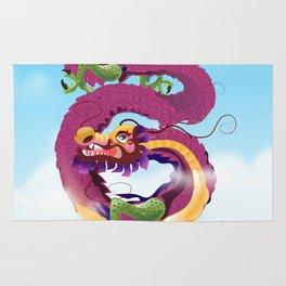 Beijing China Dragon travel poster Rug