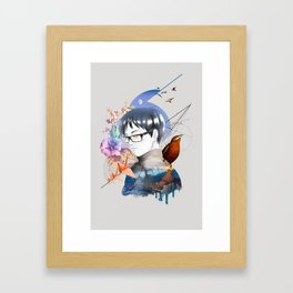 Yuri Katsuki (collage ver.) Framed Art Print