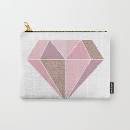 Shades of rose gold diamond Carry-All Pouch