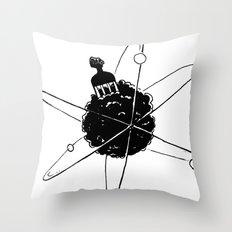 Frotoon Afro-Nucleus Throw Pillow
