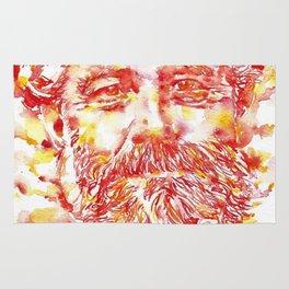JULES VERNE - watercolor on paper Rug