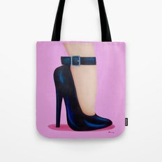 Pink Lady With Stiletto Heels Tote Bag