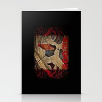 rooster Stationery Cards featuring Rooster by Justin Alan Casey