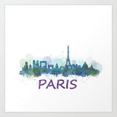 Paris City Skyline HQ  Art Print
