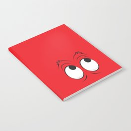 Monster Eyes Red Notebook