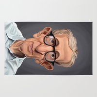 celebrity Area & Throw Rugs featuring Celebrity Sunday ~ Woody Allen by rob art | illustration