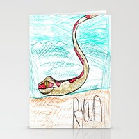 monty python Stationery Cards featuring The Python by Ryan van Gogh