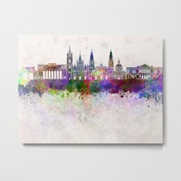 Guadalajara skyline in watercolor background Metal Print