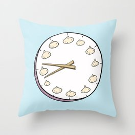 Dumpling Time Throw Pillow