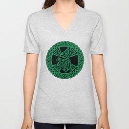 Celtic Wolf Unisex V-Neck