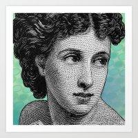 Seductress Blue Art Print