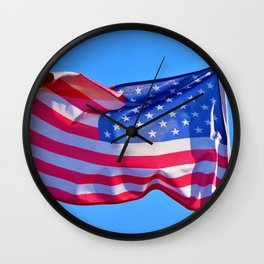 Keep Flying that US Flag you Patriot you Wall Clock