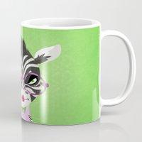 sassy Mugs featuring Sassy Zebra by Marcia Mailoa