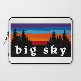 Big Sky Montana Ski Snowboard Resort Laptop Sleeve