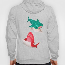 Pink Shark and Whale Shark Hoody