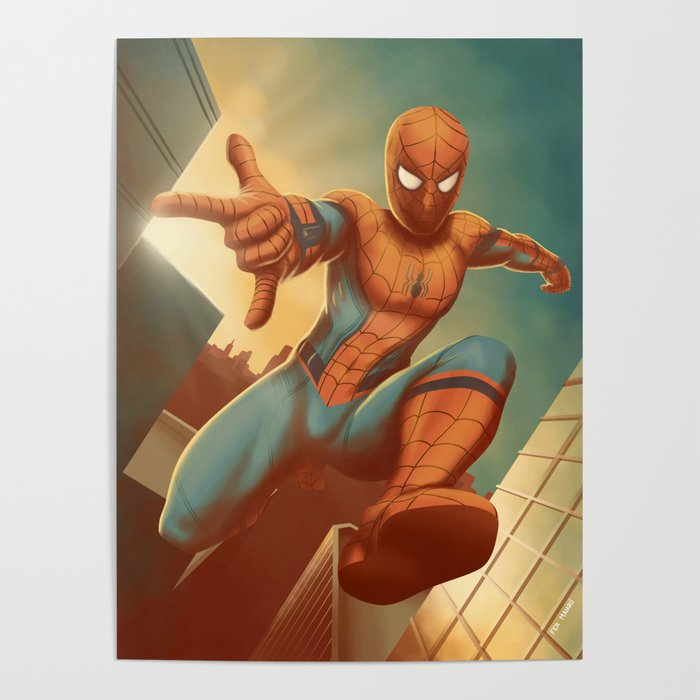 Spidy across the city Poster