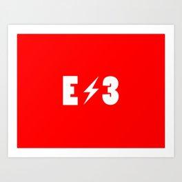 E3 red Art Print