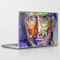 steve jobs Laptop & iPad Skins featuring steve jobs by yossikotler