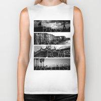cityscape Biker Tanks featuring CITYSCAPE by Grafikki Shop