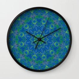 Bluegreen therapy art - Serenity mandala Wall Clock
