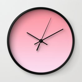 Pastel Ombre Rose Color Gradient Millennial Pink Lilac Cute Pattern Wall Clock
