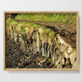 Rural Riverbank Path Serving Tray